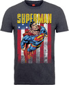 DC Superman US Flight Mens Dark Heather T-Shirt (Large)