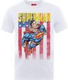 DC Superman US Flight Mens White T-Shirt (Medium)