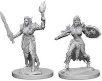 Pathfinder Battles: Deep Cuts Unpainted Miniatures - Elf Female Fighters - Cover