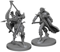 Pathfinder Battles: Deep Cuts Unpainted Miniatures - Elf Male Fighters - Cover