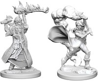 Pathfinder Battles: Deep Cuts Unpainted Miniatures - Human Female Clerics - Cover