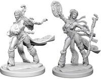 Pathfinder Battles: Deep Cuts Unpainted Miniatures - Human Female Sorcerers - Cover