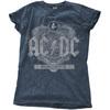 AC/DC - Black Ice Ladies Snow Wash Denim T-Shirt (Large)
