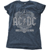 AC/DC - Black Ice Ladies Snow Wash Denim T-Shirt (Small)