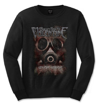 Bullet For My Valentine - Temper Temper Gas Mask  Mens Black Long Sleeve Shirt (Small) - Cover
