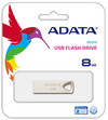 ADATA UV210 8GB USB 2.0 Flash Drive - Gold