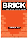 Legion Matte Finish Sleeves - Brick Atomic Orange (100)