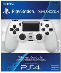 Sony - New DUALSHOCK 4 Wireless Controller V2 - White - Cover
