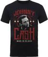 Johnny Cash Man In Black Mens Black T-Shirt (X-Large)