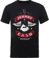 Johnny Cash Winged Guitar Mens Black T-Shirt (Small)