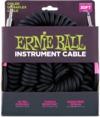 Ernie Ball 6044 Ultraflex Coiled 10 Metre Instrument Cable (Black)