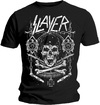 Slayer Skull & Bones Revised Mens Black T-Shirt (Small)