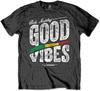 Bob Marley Good Vibes Mens Charcoal T-Shirt (X-Large)