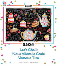 Ceaco - Let's Chalk Tea and Cakes Puzzle (550 Pieces) - Cover