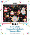 Ceaco - Let's Chalk Tea and Cakes Puzzle (550 Pieces)