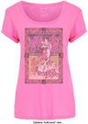 Janis Joplin - Avalon Ballroom '67 Ladies Pink T-Shirt (Large)