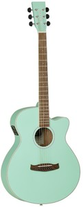 Tanglewood Discovery Super Folk Acoustic Electric Guitar (Surf Green Matt Satin) - Cover