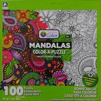 Creative Colour - Mandalas Color-a-Puzzle (100 Pieces) - Cover
