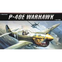 Academy - 1/72 - Curtiss P-40E Warhawk (Plastic Model Kit)