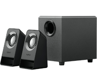 Logitech - Z211 2.1 Speakers 8w - Black - 3.5mm (USB-powered) - Cover