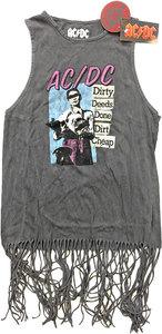 AC/DC -  DDDDC Vintage Ladies Tassel Dress (Small) - Cover