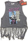 AC/DC -  DDDDC Vintage Ladies Babydoll Tassel Vest (X-Large)