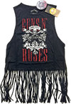 Guns N' Roses - AFD Vintage Ladies Babydoll Tassel Vest (Medium)