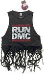 Run DMC - Logo Vintage Ladies Babydoll Tassel Vest (Medium)