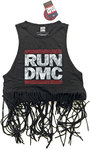 Run DMC - Logo Vintage Ladies Babydoll Tassel Vest (X-Large)