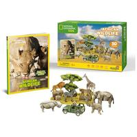 CubicFun - African Wildlife 3D Puzzle (69 Pieces)