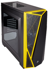 Corsair - Spec-04 Carbide Series Windowed Side Panel Computer Chassis - Black/Yellow (no PSU)
