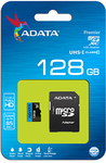 ADATA - Premier 128GB MicroSDXC with SDXC Adapter Memory Card