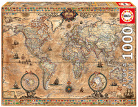 Educa - Antique World Map Puzzle (1000 Pieces) - Cover