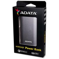 ADATA - A10050QC Lithium-Ion (Li-Ion) 10050mAh Power Bank - Grey,Titanium