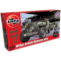 Airfix - 1/72 - Willys Jeep, Trailer, Howitzer (Plastic Model Kit)
