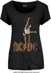 AC/DC - Angus Statue Ladies Black T-Shirt (Large)