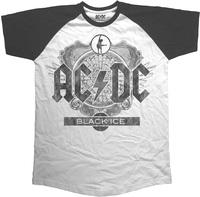 AC/DC - Black Ice Short Sleeve Mens Black Raglan T-Shirt (Large) - Cover
