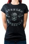 Avenged Sevenfold - Deathbat Diamante Ladies Black T-Shirt (Small)