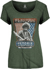 Jimi Hendrix - Electric Ladyland Ladies Green T-Shirt (Small)