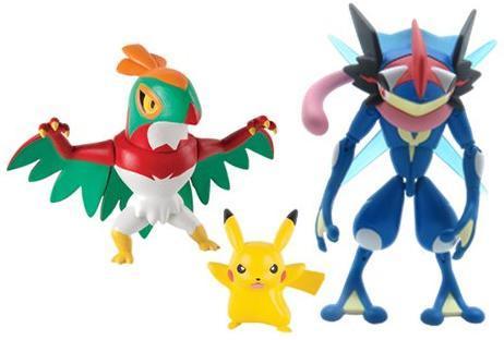 Pokemon 3 Pack Ash Greninja Pikachu And Hawlucha Action Figures
