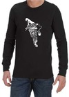 A Wizard is Never Late Mens Long Sleeve T-Shirt Black (Small)