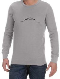 Batman Silhouette Mens Long Sleeve T-Shirt Grey (X-Large) - Cover