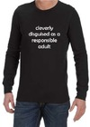 Cleverly Disguised Mens Long Sleeve T-Shirt Black (Medium)