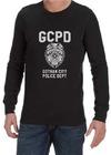 GCPD Mens Long Sleeve T-Shirt Black (X-Large)