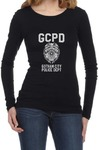 GCPD Womens Long Sleeve T-Shirt Black (Large)