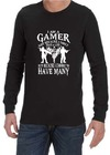 I Am A Gamer Mens Long Sleeve T-Shirt Black (XXXX-Large)