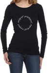 Lord of the Rings Script Womens Long Sleeve T-Shirt Black (Small)