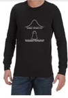 Normal Paranormal Mens Long Sleeve T-Shirt Black (Small)