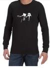 Pulp Fiction Adventure Time Mens Long Sleeve T-Shirt Black (X-Large)