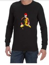 Ronald McDonald Joker Mens Long Sleeve T-Shirt Black (XX-Large)